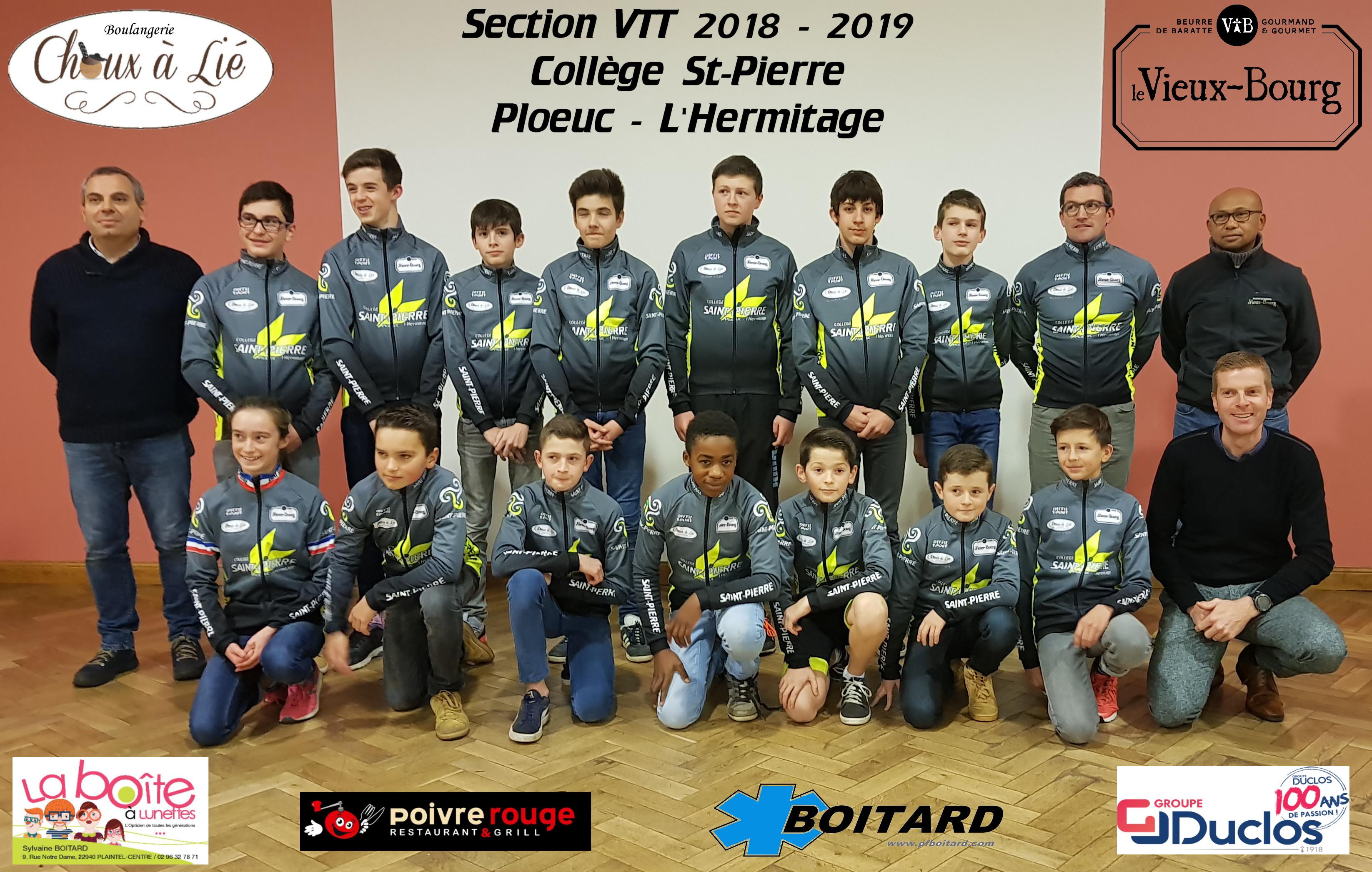 Présentation Section VTT 2018-2019 St-Pierre